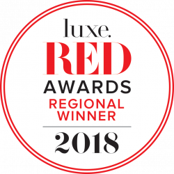 luxe Red Awards 2018 Regional Winner